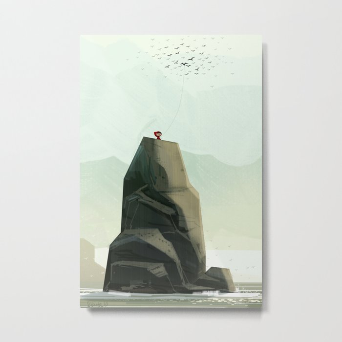One Of The Flock Metal Print