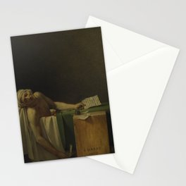 Death of Marat Stationery Cards