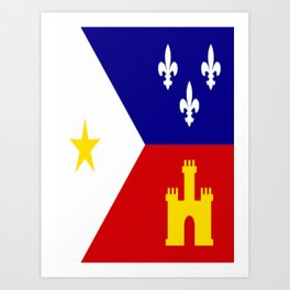 Acadiana Flag Art Print