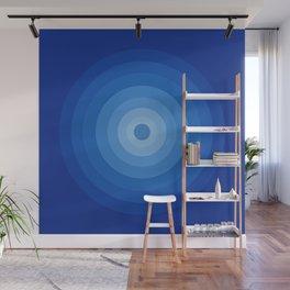 Blue Retro Bullseye Wall Mural