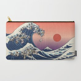 The Great Wave Of  French Bulldog Carry-All Pouch
