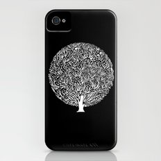Black and White Tree iPhone (4, 4s) Slim Case