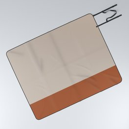 Minimalist Solid Color Block 1 in Putty and Clay Picnic Blanket