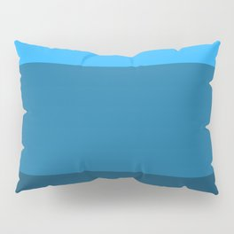 Blue Gradient Pattern Pillow Sham