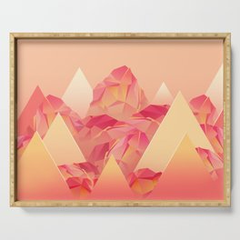 Crystal Mountains Serving Tray