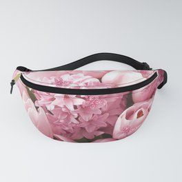 Pretty Pink Tulips Hyacinth Fanny Pack