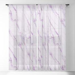 Purple Swirl Marble Sheer Curtain