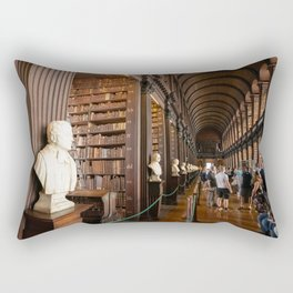 The Long Room of Trinity College Library in Dublin, Ireland Rectangular Pillow