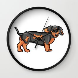 Dackel Dog Dog-Owner gitr Present puppy Wall Clock