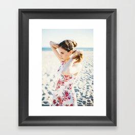 Beach Hair Framed Art Print