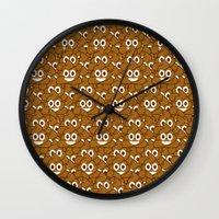 emoji Wall Clocks featuring Poop Emoji by Fabian Bross