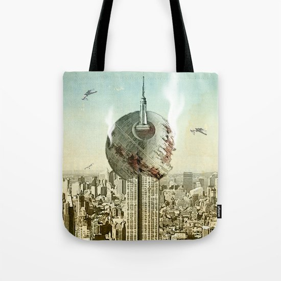 impaled on the empire Tote Bag