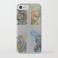 dc comics iPhone & iPod Cases featuring DC: Batgirls by aka-noodle