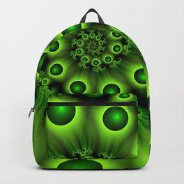 Green Fractal, Modern Spiral With Depth Backpack