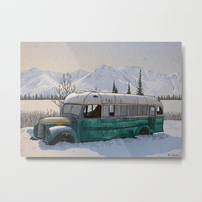 Into the Wild Fairbanks Bus Metal Print