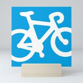 Blue Bike Mini Art Print