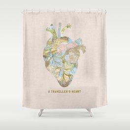 A Traveller's Heart (UK) Shower Curtain
