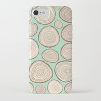tree rings iPhone & iPod Cases featuring Tree Rings by Jackie Sullivan