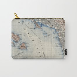 Vintage Map of San Francisco California (1914) Carry-All Pouch
