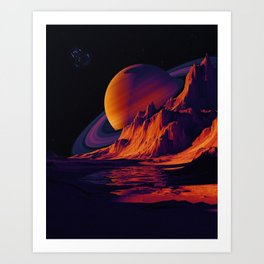 View From Planet Purple Art Print
