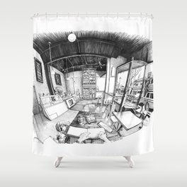 Spinelli's Bakery and Cafe, Denver Shower Curtain
