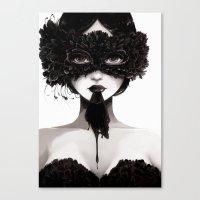 la Canvas Prints featuring La veuve affamee by Ludovic Jacqz
