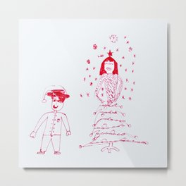 Christmas fashion Metal Print