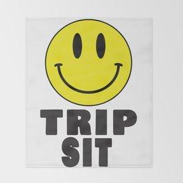 Trip sit Throw Blanket