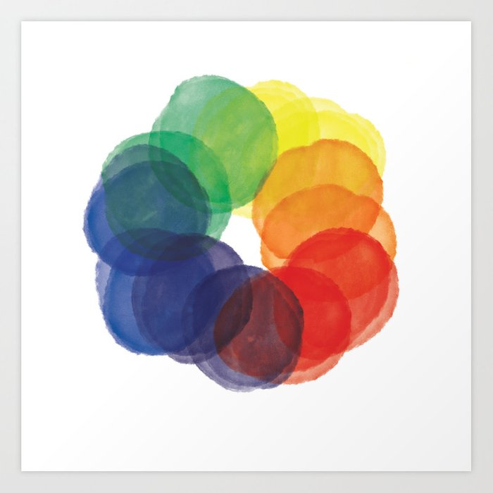 Watercolor Wheel Art Print