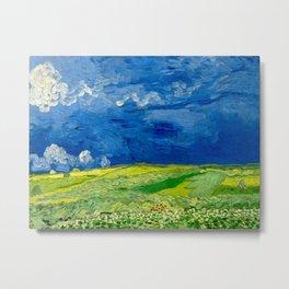 Vincent van Gogh Wheatfield Under Thunderclouds Oil Painting Metal Print