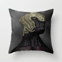 ripley Throw Pillows featuring Ripley by Lowri W. Williams
