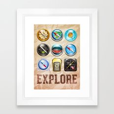 Explore Framed Art Print