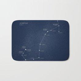 Scorpius constellation star map Bath Mat