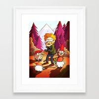 gravity falls Framed Art Prints featuring Supernatural: Gravity Falls style by rdjpwns