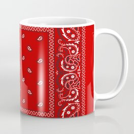 Bandana in Red - Classic Red Bandana  Coffee Mug