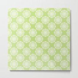 Kitchen cutlery green Metal Print