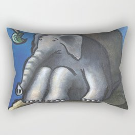 Bad Fit - Elephant in a tree Rectangular Pillow