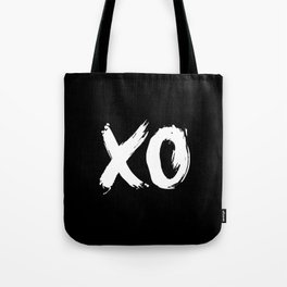 XO Hugs and Kisses white and black gift for her girlfriend xoxo bedroom art and home room wall decor Tote Bag