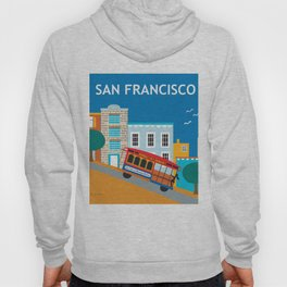San Francisco, California - Skyline Illustration by Loose Petals Hoody