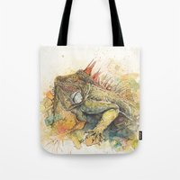 "iggy Tote Bags featuring ""Iggy Punk"" by PaintedBunting"