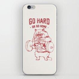 Go Hard or Go home Cat iPhone Skin
