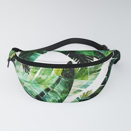Green leaves of a banana. 2 Fanny Pack