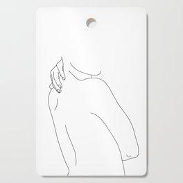 Hand on back line drawing - Isla Cutting Board