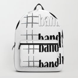 #bandnerdforlife with white center and flute hashtag Backpack