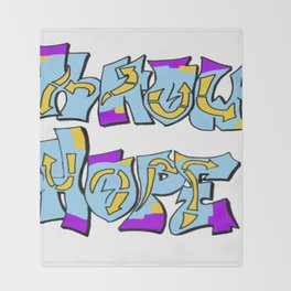 Know Hope Throw Blanket