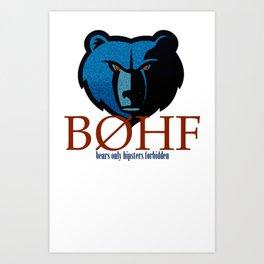 Bears only III Art Print