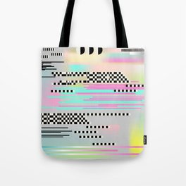 Glitch art effect Tote Bag
