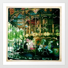 One of many carousels in France Art Print