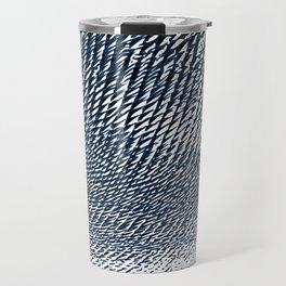 Blue Texture Travel Mug