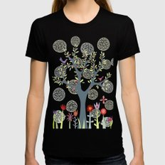 The Garden Black Womens Fitted Tee SMALL
